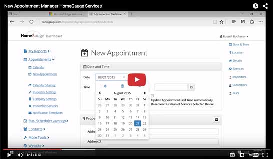 New HomeGauge Appointment Manager Tour