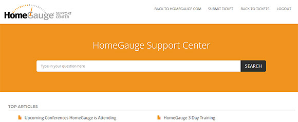 The New HomeGauge Support Center
